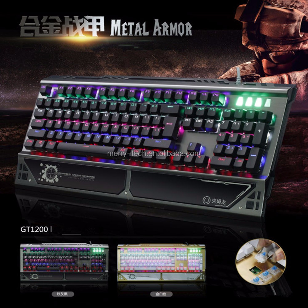 Motospeed Inflictor Full Key Unlimited Gaming Mechanical Keyboard with Wired USB Port 6 RGB Backlight Mode for Desktop
