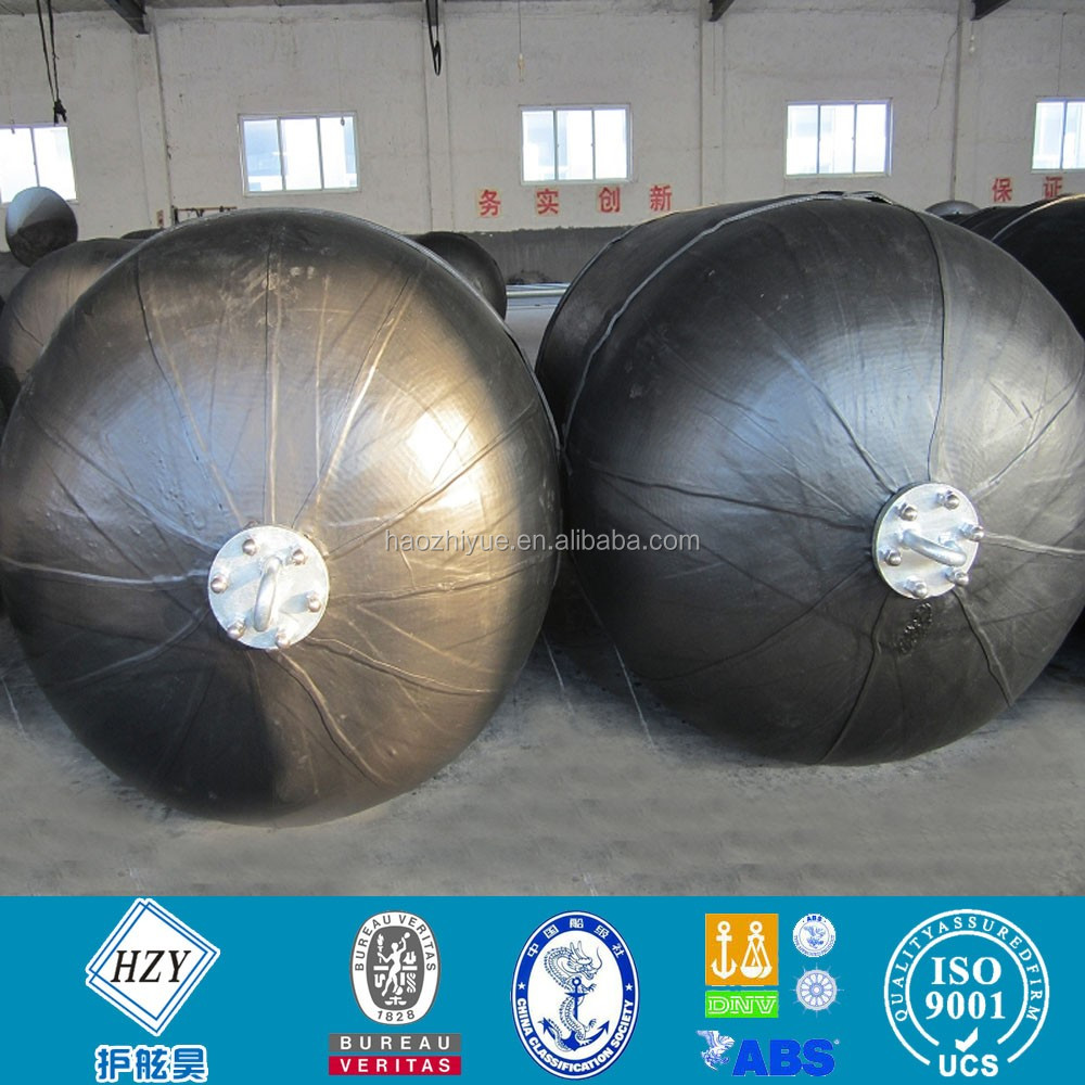 High pressure floating marine pneumatic rubber fender for vessel berthing and mooring without chain