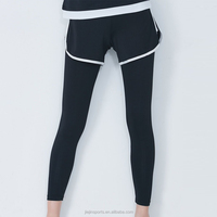 Black Side Stripe Running Shorts With Elastic Waistband Workout Dance Pants Leggings