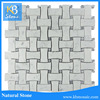 Classic carrara and grey dogbone wall cladding marble mosaic tiles