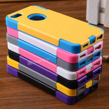 Hard pc silicon case for iphone5 colorful combo hybrid android phone case for China cell phone accessories