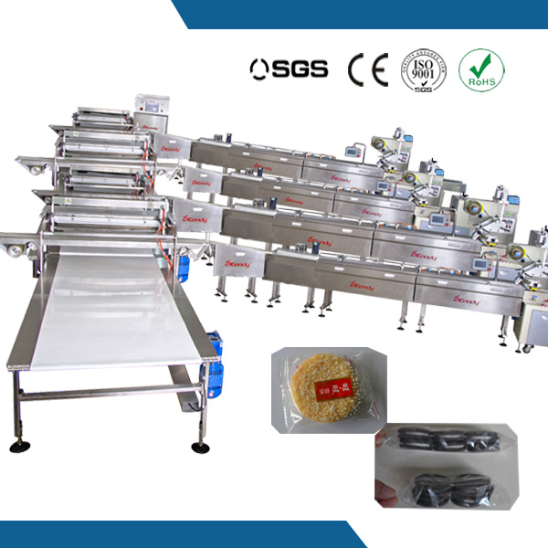 full automatic widely used flow wrapping machine line
