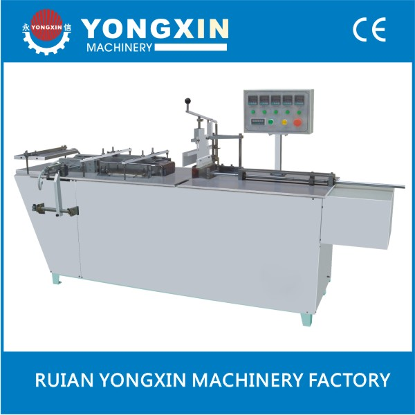 tray semi automatic cellophane film sealer