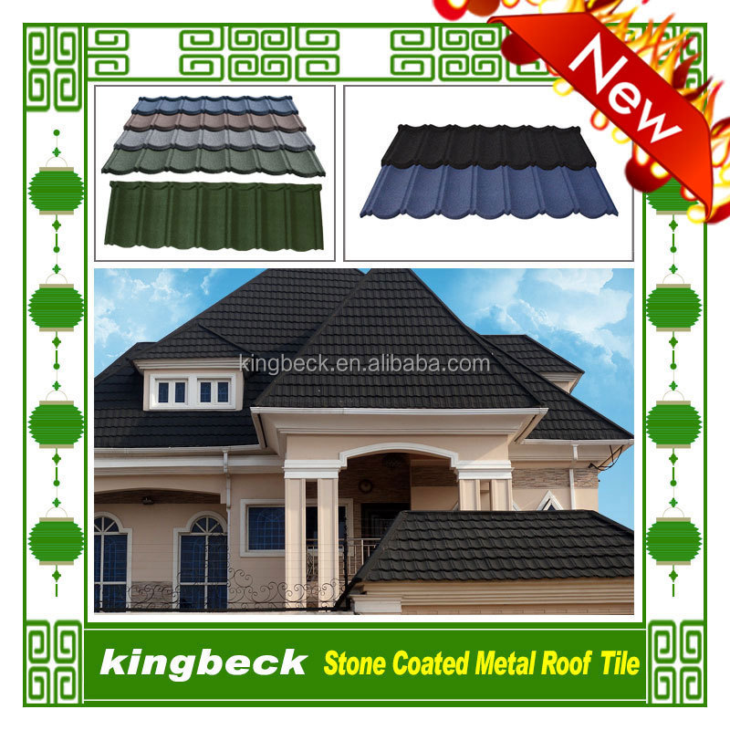building material roof tiles stone coated steel roofing tiles