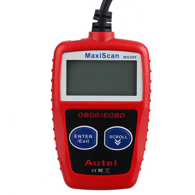 B2600i Retrieving Check Engine Light Cel Codes: Ms309 Scanner Can Obd2 Ii Eobd Car Fault Code Reader