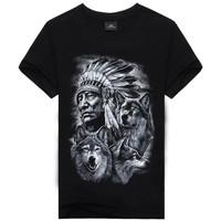 best selling 2017 summer 3D dragon printing tshirt cheap 100% cotton wholesale boutique fashion men's clothing