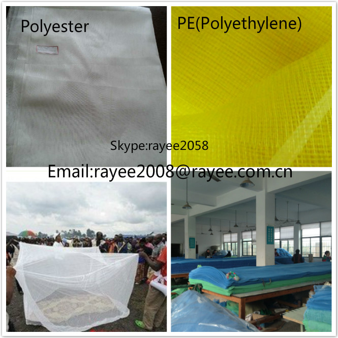 Polyethylene 150D with 2percent permethrin, uv protection agriculture mosquito shade nets mesh fabric/ tecido mosquiteiro
