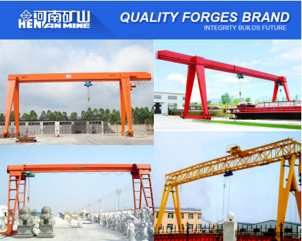 China Surplier widely used 5~20T MH Electric Hoist Single Beam Gantry Crane