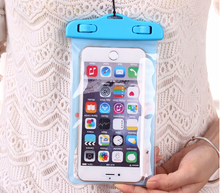 Wholesale clear waterproof cell phone neck hanging bag
