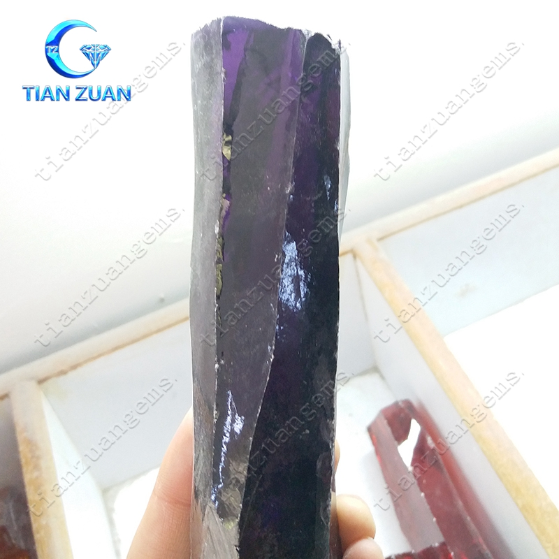 hot sale Amethyst color cz raw rough material in best factory price