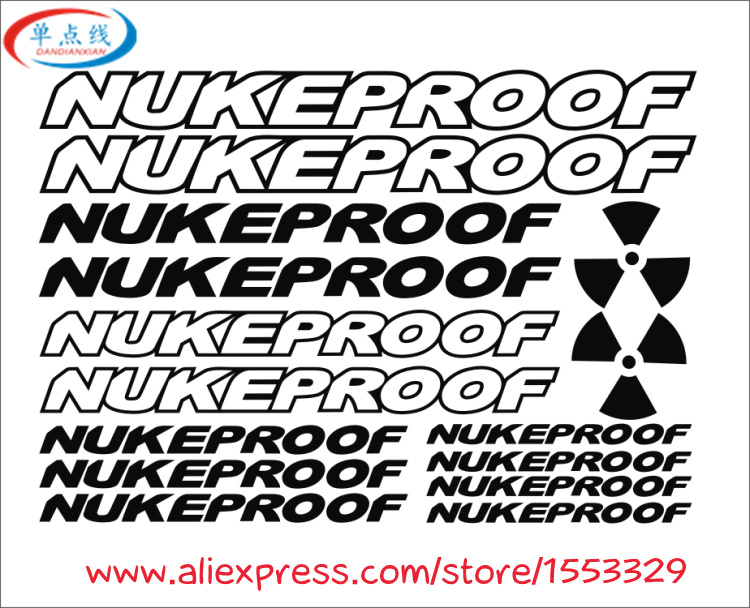 Nukeproof Mountain Bicycle Frame Decal Stickers Graphic Adhesive Set Vinyl Black