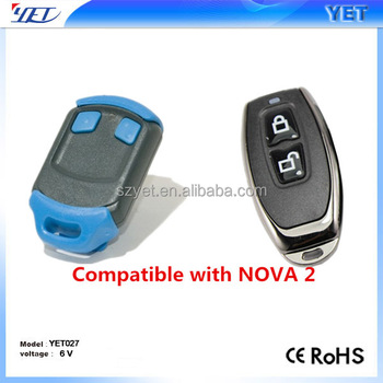 rolling code remote control duplicator Nova ,universal 433Mhz rf copy remote control for garage door
