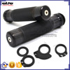 HB-052-BK-BK 22MM Aluminum and Rubber Handlebar Motorcycle Grips Hand Grips
