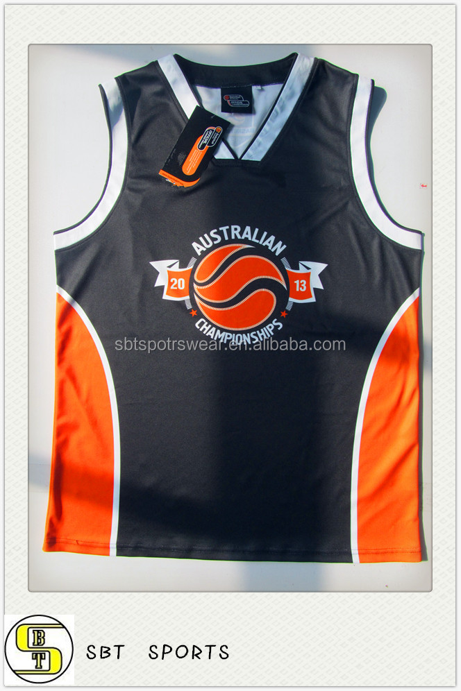 Sublimated latest nice design basketball jersey 2016