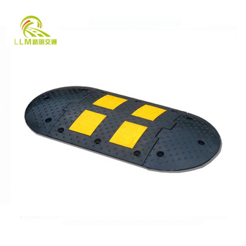Traffic Yellow Road Safety Rubber Speed Bumps