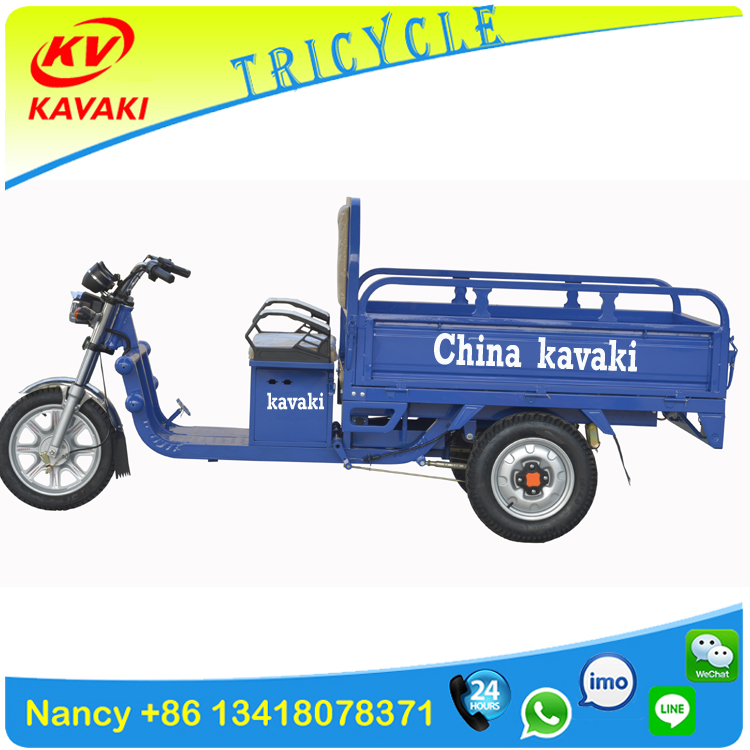 KAVAKI china tricycle factory 650W /900W 20AH adult electric three wheel motorcycle