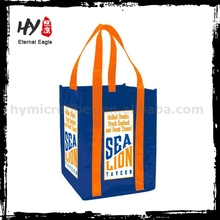Customized promotion cheap folding nonwoven shopping bag