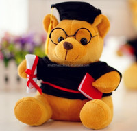 custom stuff plush animal manufacturer make graduation bear soft toy