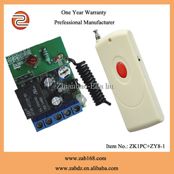 1 channel wireless rf remote control switch for light switch long range 1000 m(ZK1PC+ ZY8-1)