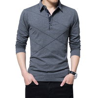 New Design Fashion Striped 100% Cotton Custom Long Sleeve Men's Polo Shirt Import