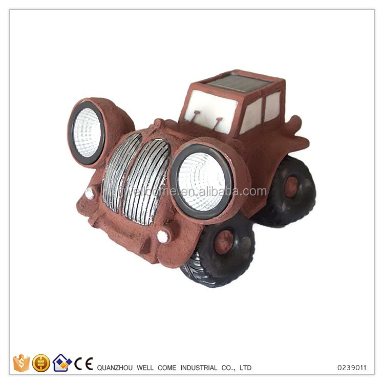 Table Decoration About Brown Mini Toy Car
