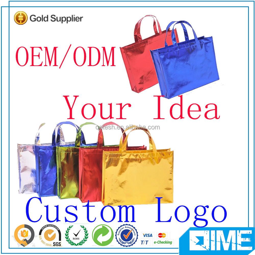 Newest designed promotional printing recyclable non woven bags