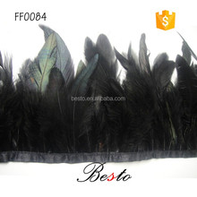 2016 hot selling 12.5cm Popular artificial black decoration feather