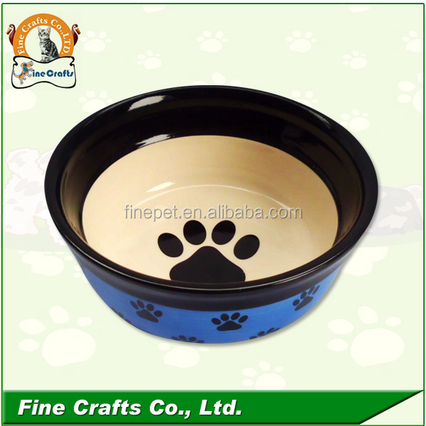 Lovely Ceramic dog feeder with metal stand