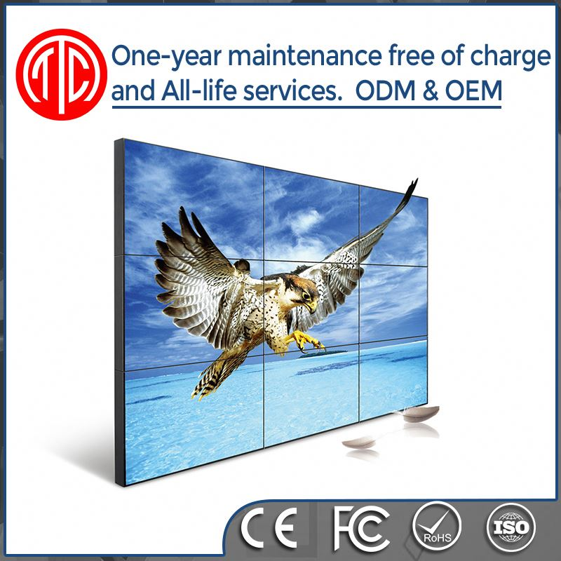 Full Color 1080p 28 inch lcd video wall/display stand/lcd ad board
