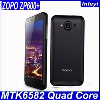 ZOPO ZP600+ 4.3 inch MTK6582 Quad Core 1GB RAM 4GB ROM 3G GPS WCDMA Android 4.2 China cheapest phone 3G mobile