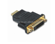 HDMI A male to DVI 24+1 female gold plated connector dual link adapter