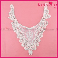 New arrival embroidery cotton wedding dress lace collar design WLS-390
