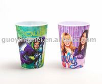 Personalized plastic lenticular water cups tumblers