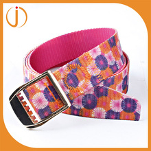 girls printed small colorful flower polyester nylon travel strap belt