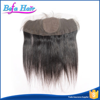 Wholesale Bleached Knots Natural Human Hair Silk Full Lace Frontal Closure