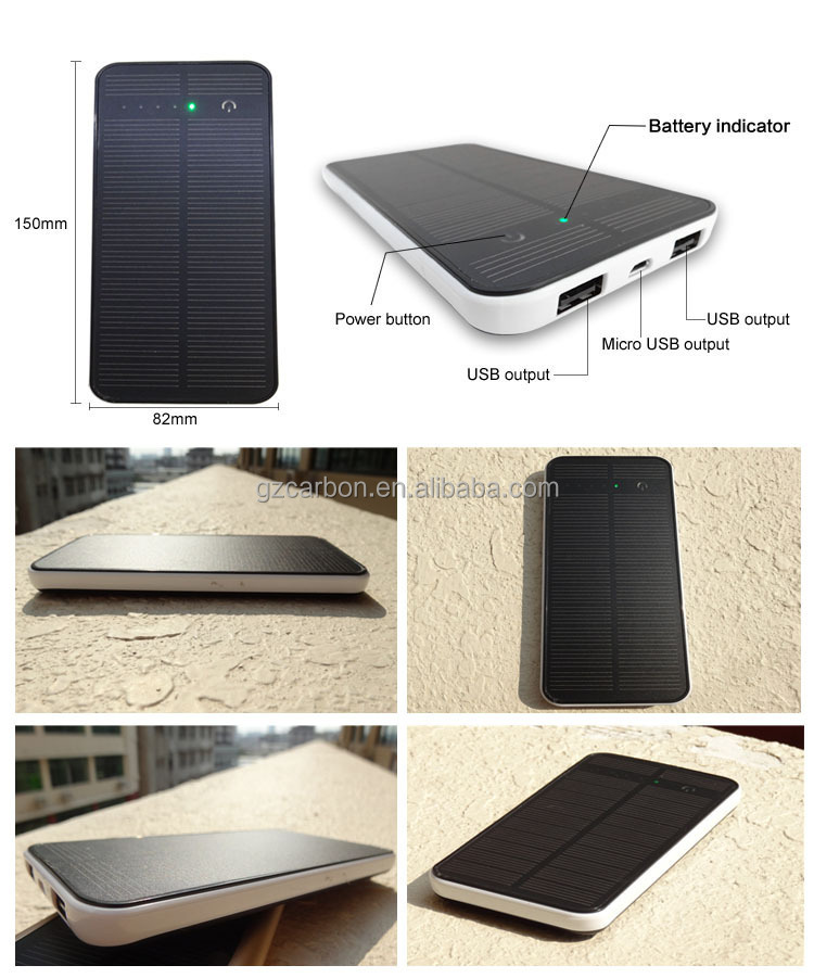 S4 hot selling 8000mah solar battery charger for mobile phone