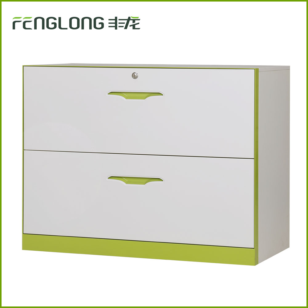 Customizable color pigeon hole 2 drawers office index card hanging file cabinet