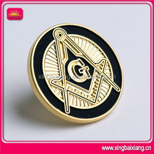 masonic metal circle round pocket lapel pin badges manufacturer