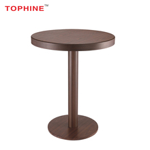 TOPHINE Furniture Aluminium Profile Wood Color High Top Bar Cocktail Tables