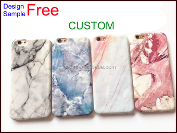 free design sample custom printing marble phone case 2017 for iphone 7