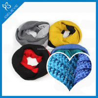 wholesale two color personalized winter knitted scarf