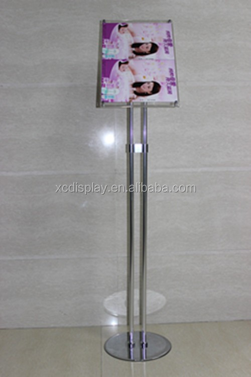 menu sign stand with binder