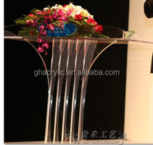 Modern transparent wide acrylic Podium/Lectern/Rostrum/flower Stand
