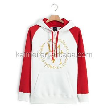 100% cotton plain hoodie ,custom printing on chest with kangaroo pocket raglan long sleeves hoodies