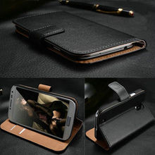 Luxury Genuine Real Leather Case S3 Mini Flip Sthand Case Wallet Cover For Samsung Galaxy S3 Mini i8190