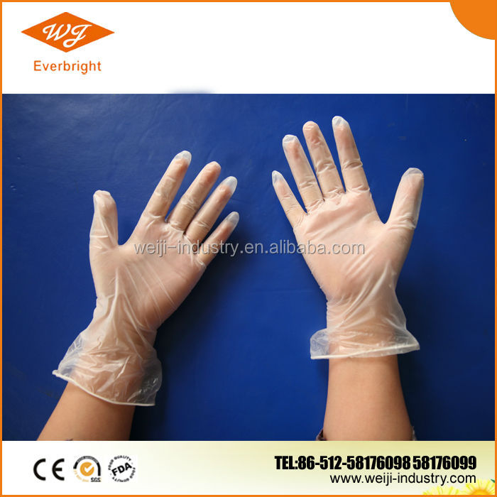 white and clean vinyl gloves for lab /house /cleanroom/hospital