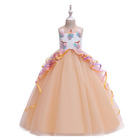 EGM102 Fashion kids party in stock ball gown evening dress