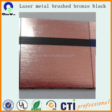 1200mm double Laser metal brushed bronze black abs sheet/ absdouble color sheet