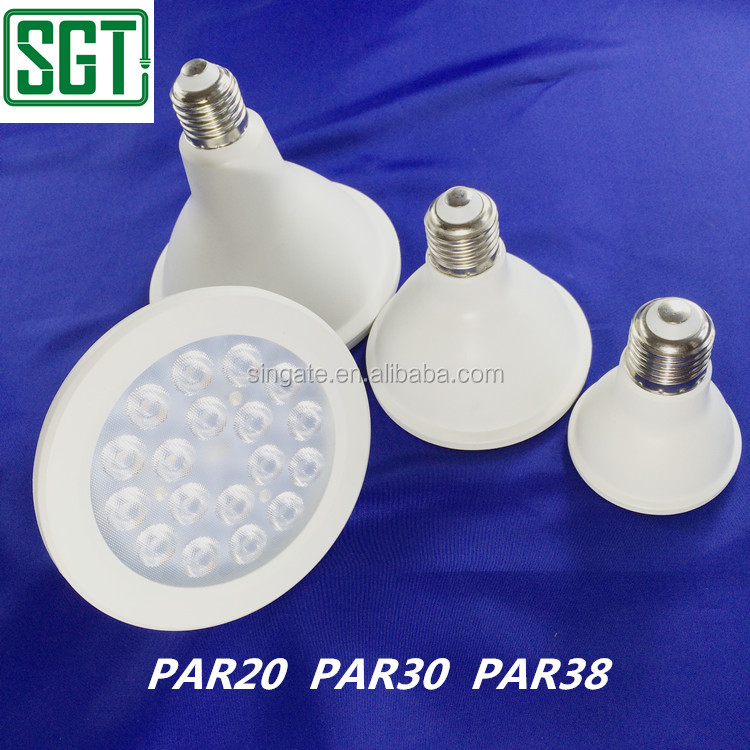 LED spot light 30000 hours lifespan E26 E27 B22 base 6w 12w 20w 120 degree gu10 led spot par light