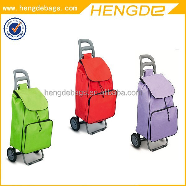 portable environmental trolley shopping vegetable bag with wheels